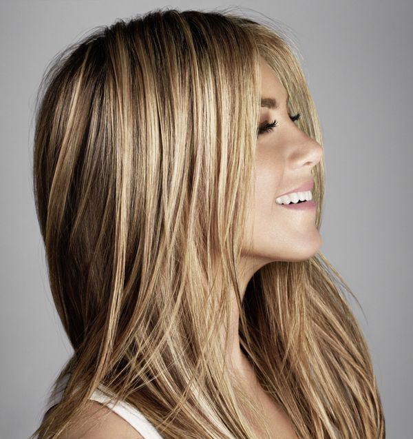 Jennifer Aniston, co-owner of Living Proof shows off her gorgeous hair in our…