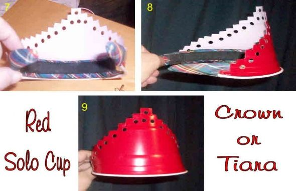 Red Solo Cup Crown Or Tiara  ****Click On Picture For Complete Instructions*****