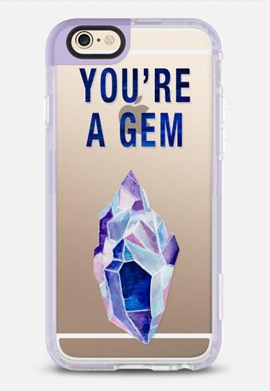 You're A Gem - New Standard Case in Lavender Violet by Lauren Davis   @casetify