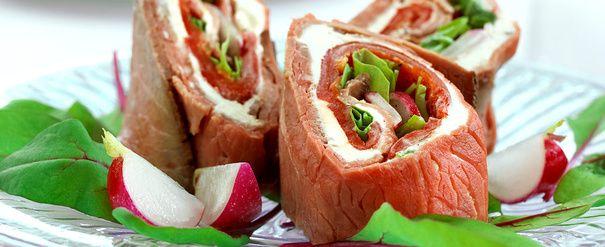 Roastbiff- og paprikarulade