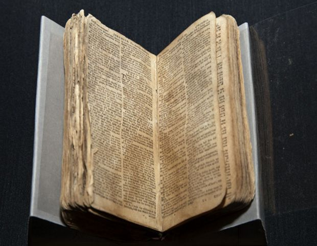 Image: Courtesy of National Museum   of African American History and Culture    Nat Turner's Bible, 1830s