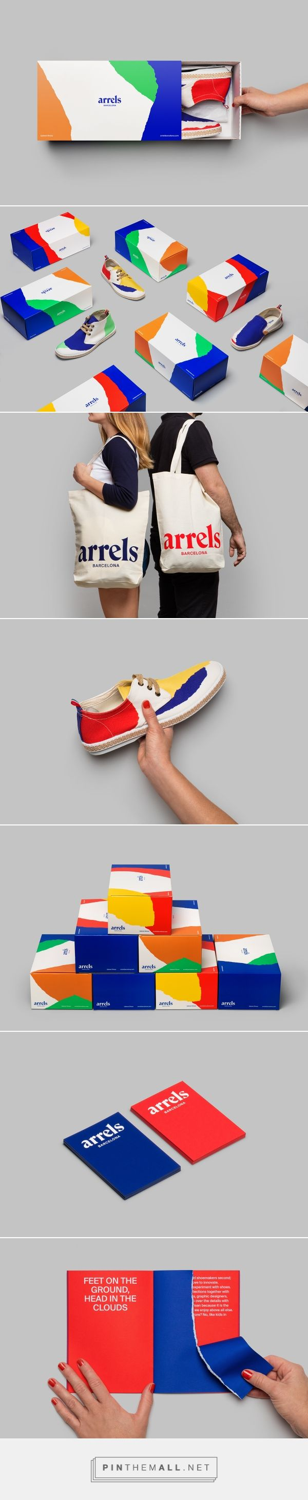"""Arrels packaging on Behance curated by Packaging Diva PD. Arrels, which means """"roots"""" in English, is a Barcelona based footwear brand making shoes for the urban market."""