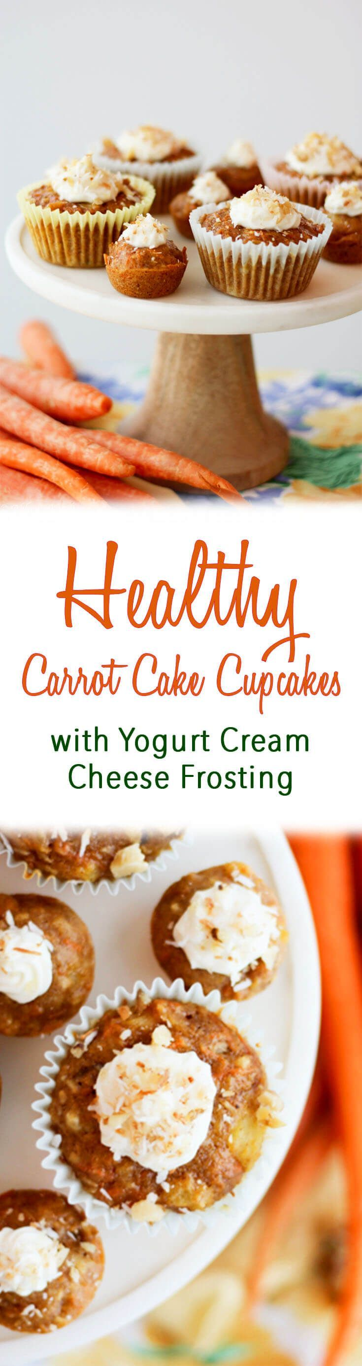 These Carrot Cake Muffins are one of my favourite healthy treats. They're moist, chewy, and topped with a decadent cream cheese frosting.