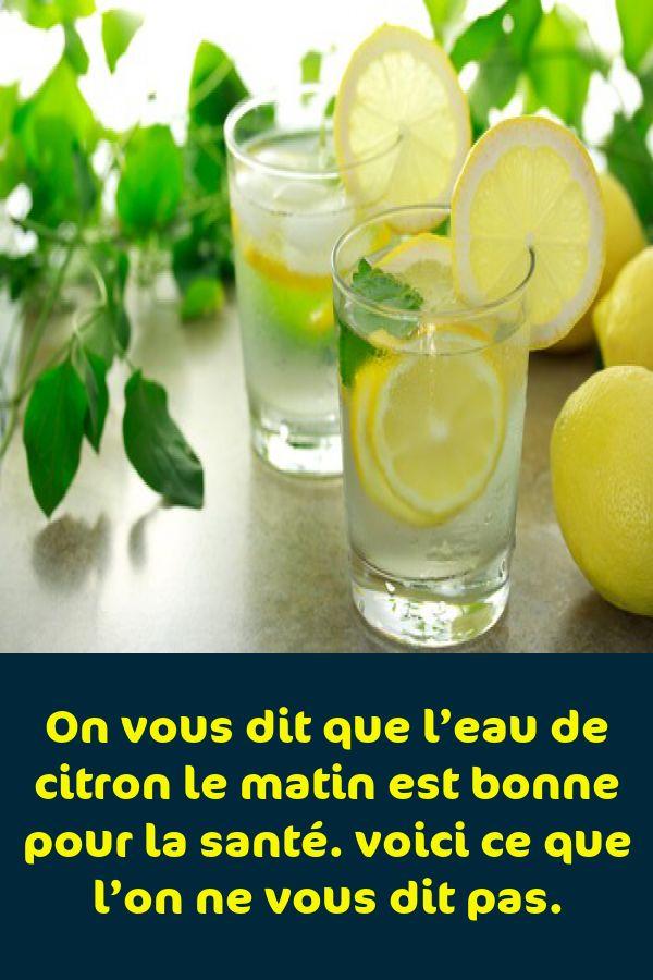 On vous dit que l'eau de citron le matin est bonne pour la
