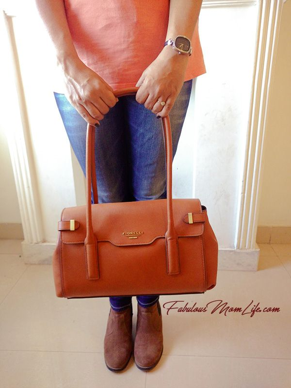 Tan Fiorelli Handbag and H & M Booties