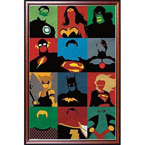 FRAMED DC Comics Superman Batman Wonder Woman 22x34 Poster Dry Mounted in Executive Series Walnut Wood Frame With http://geek.ragebear.com/vxgr2