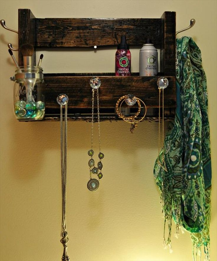 17 Best Ideas About Pallet Jewelry Holder On Pinterest
