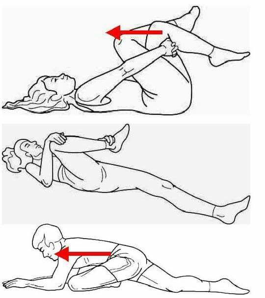 Estiramientos para reducir el dolor del  síndrome de la falsa ciática, dolor que se presenta en el músculo  piramidal que se sitúa debajo de la zona glútea y por encima del nervio ciático(en algunas personas llega a atravesarlo), de ahí  que se le llama así.