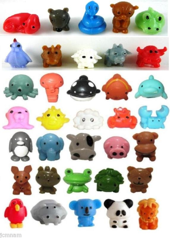 Squishy Little Animals : 35pc sqwishland squishies zoo sea jungle barnyard swamp Octopus, Clams and The o jays
