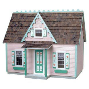 Dollhouse kits victorian cottage and plywood on pinterest Victorian cottages kit homes