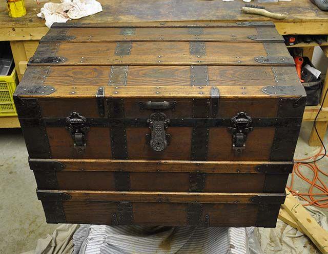 antique trunks | Antique Steamer Trunk