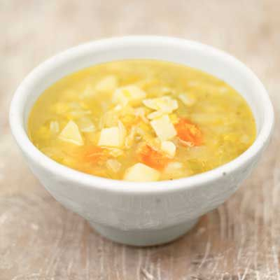 Use chicken broth instead of cream, for a lighter, healthier  potato leek soup.