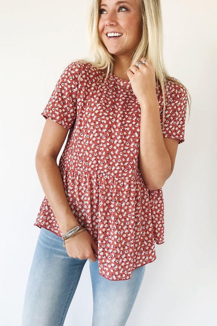 Floral Babydoll Top | ROOLEE
