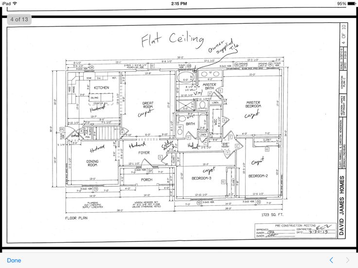 Floor plan david james custom homes building a home for David james custom homes