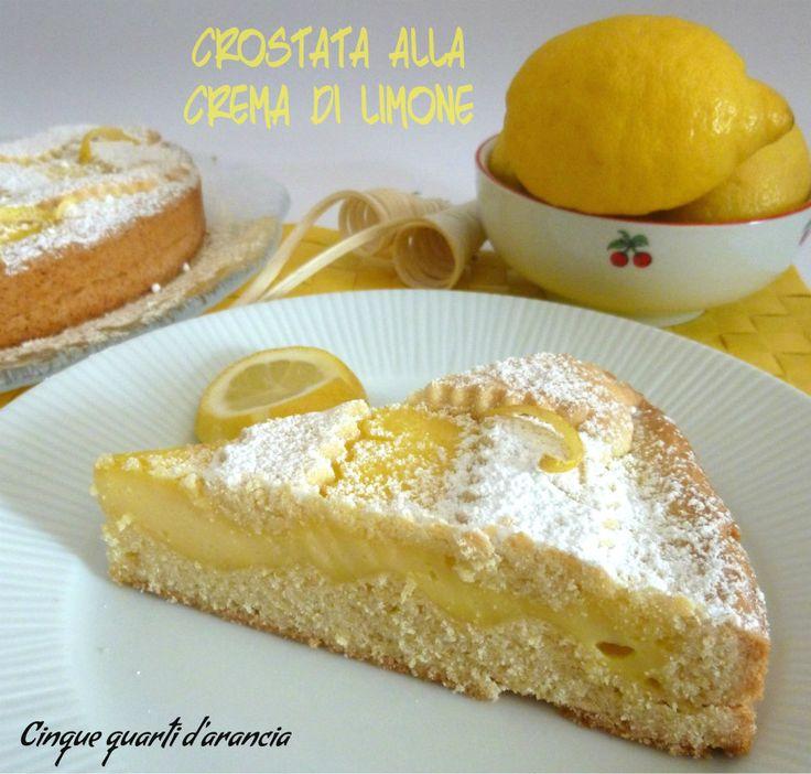 Crostata alla crema di limone | Cinque quarti d'arancia