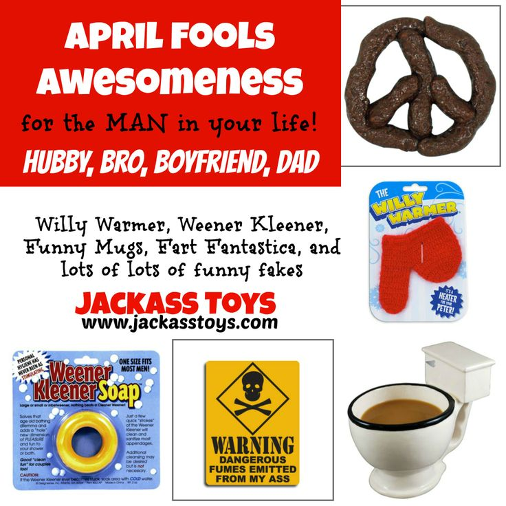 Great April fools PRANK ideas and gifts for GUYs ...