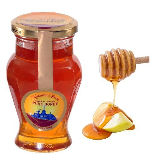 Amazon.com : Nazareth Pure Honey the Natural Gift From Israel 3 X 8.8 Oz Amphora Jars : Grocery & Gourmet Food