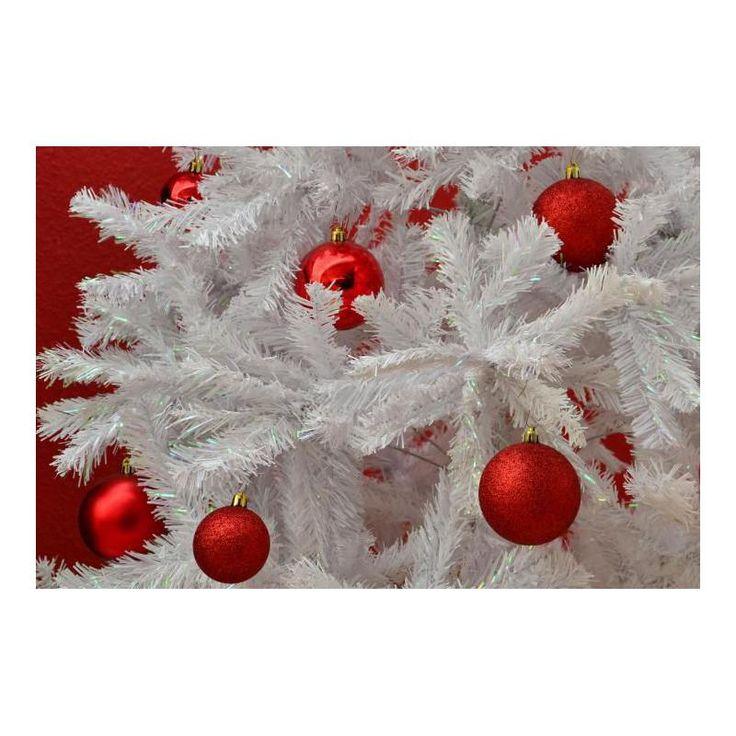 Umělý vánoční strom s třpytivým efektem - 180 cm, bílý - www.guge.cz