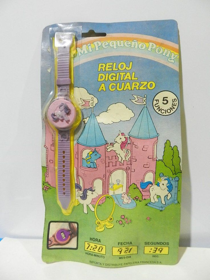 Vintage My Little Pony Digital Clock Quartz Bracelet G1 1985 Boys Girls