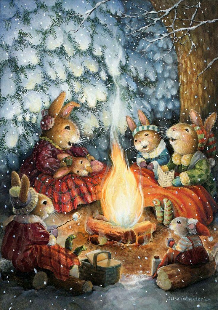 разного дизайна картинки к рождеству с зайчиком тюль сетки кухню