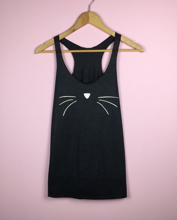 Enjoy the rest of the summer sun in this cool cat racerback tank top.