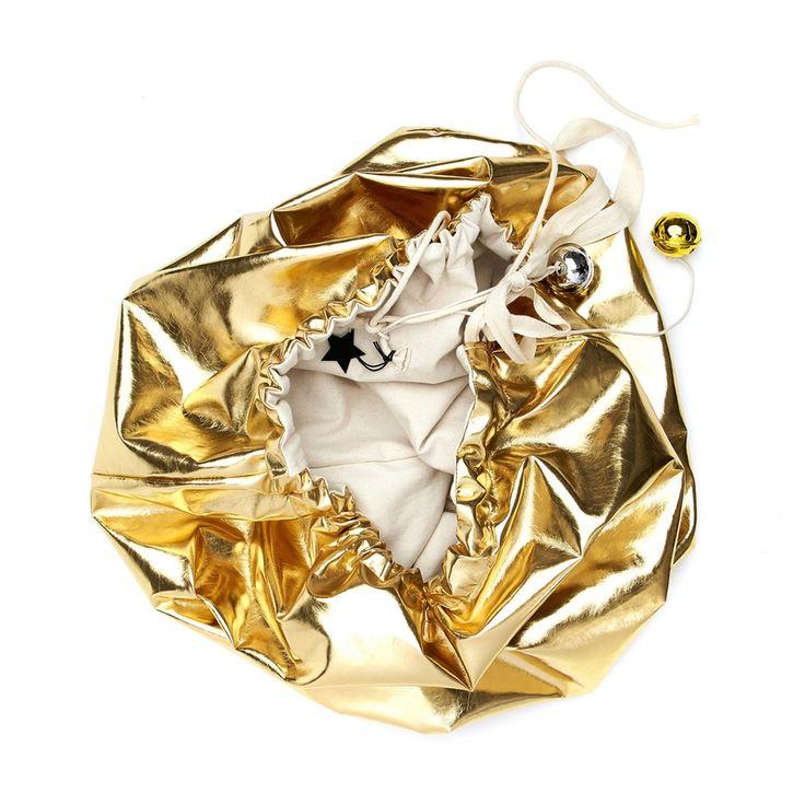 Image of Gold Christmas Sack - Reversible