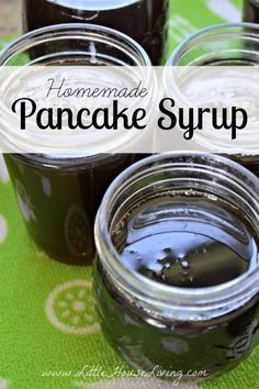 Homemade Pancake Syrup, made from apple scraps!
