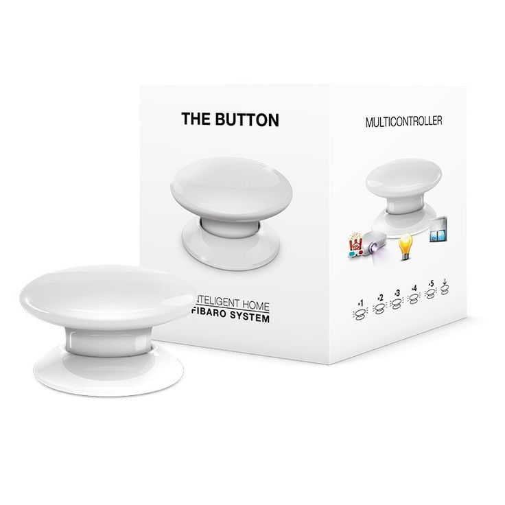 Z-Wave Fibaro Button allows you to control devices through the Z-Wave network and run various scenes defined in FIBARO System.