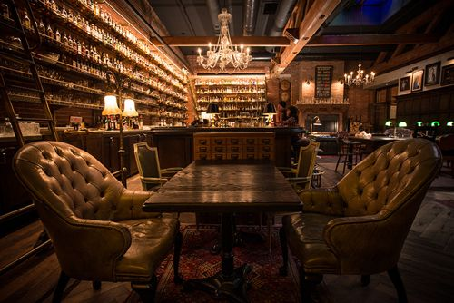 The Multnomah Whiskey Library, located in Portland, Oregon, offers a unique bar experience with table side cocktail service as a specialty of The Library. They also offer tastings, pairing dinners, and other educational events to go along with their seemingly endless wall of spirits.