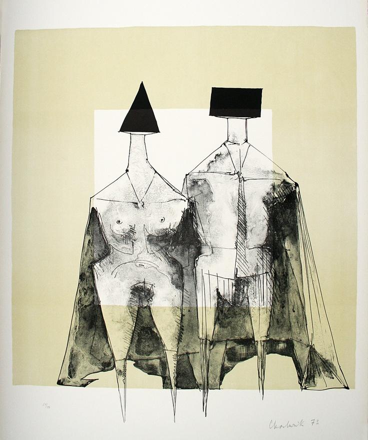 Two Standing Figures by Modern British Artist Lynn Chadwick