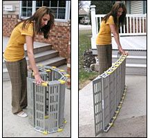 Roll-A-Ramp Lightweight Wheelchair Ramp - Accessible Design Repinned by  SOS Inc. Resources  http://pinterest.com/sostherapy.
