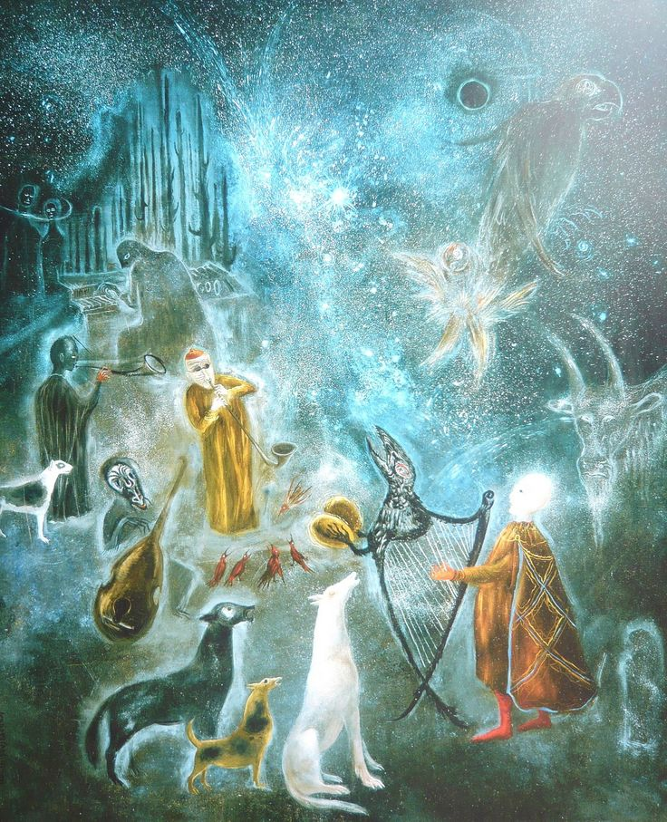 Surrealist painting by Leonora Carrington - so much imagery in one work! Title: Mexico City