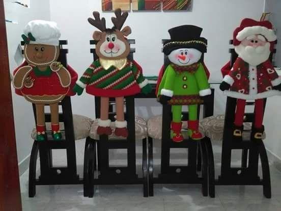 Resultado de imagen para forros navideños para sillas