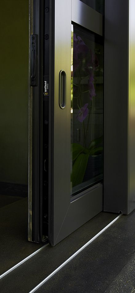 The Weiland Liftslide door glides on a flush track that is only 3/16\  & 10 best Weiland doors- by Andersen Windows images on Pinterest ...