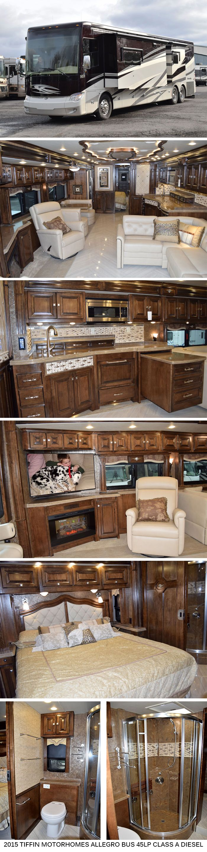 2015 Tiffin Motorhomes Allegro Bus 45LP - Class A Diesel