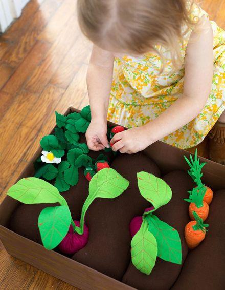 Grönsaksland i filt