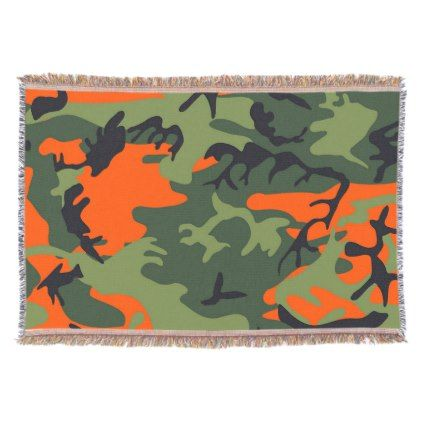 Camo Blanket - Camouflage Gift - Hunting Dog Gifts - home gifts ideas decor special unique custom individual customized individualized
