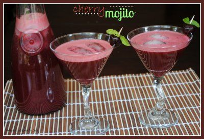 Cherry Mojitos @Shugarysweets #cocktails