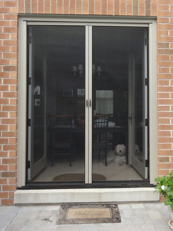 17 best ideas about double french doors on pinterest for Screen door for single french door
