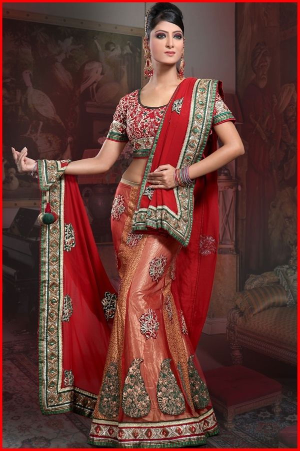 models in saree