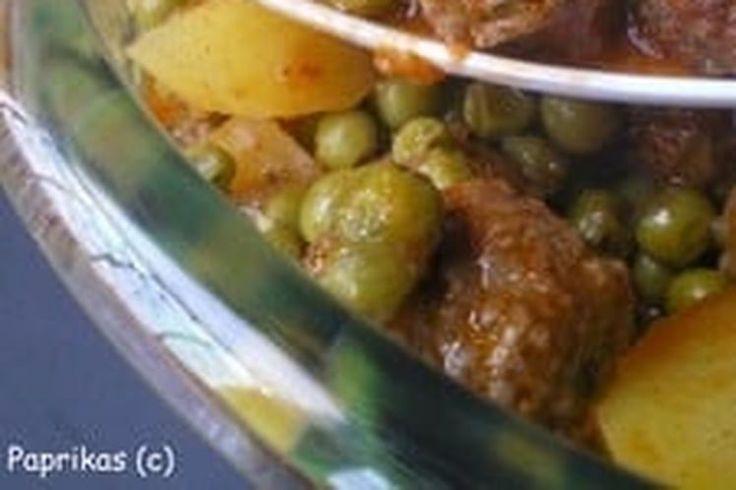 Mijoté de boulettes aux petits pois