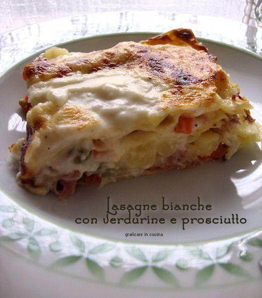 Lasagne bianche con verdurine e prosciutto