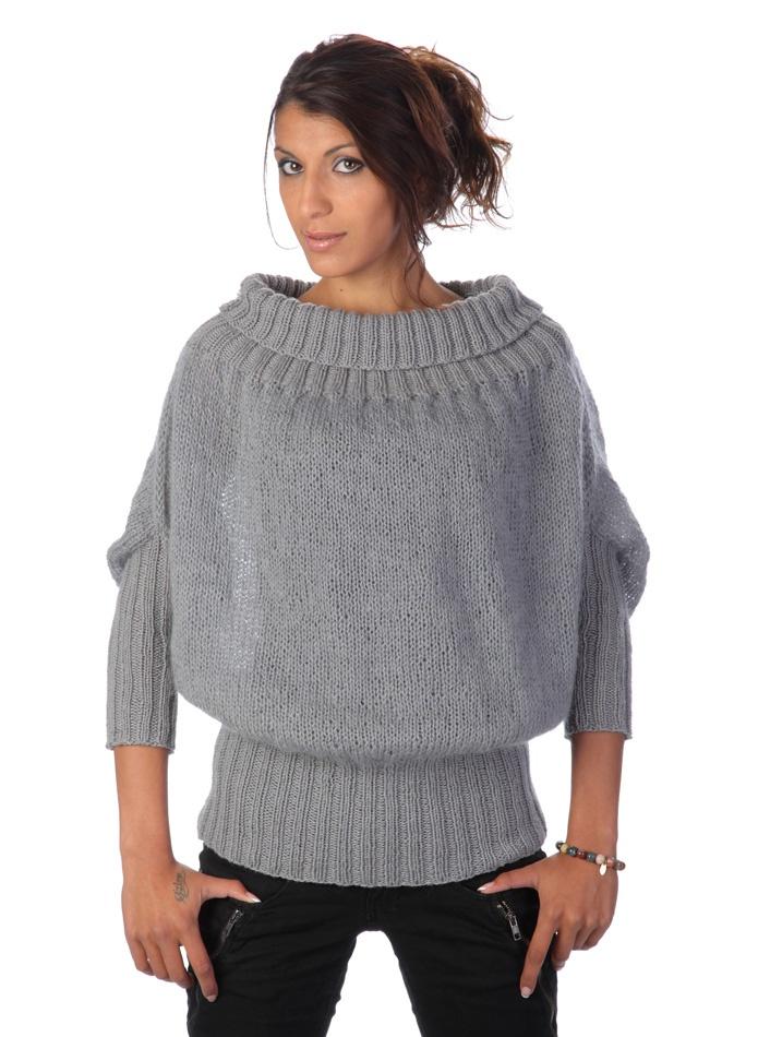 Opskrift/Tussah Silk+Merinould/Mohair+wool-Ballontrøje | Figosmor