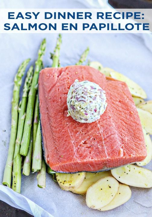 Make this delicious Salmon en Papillote with Asparagus for dinner with Parchment Paper packets! Everyone can customize their own meal with the ingredients and seasonings they like best.
