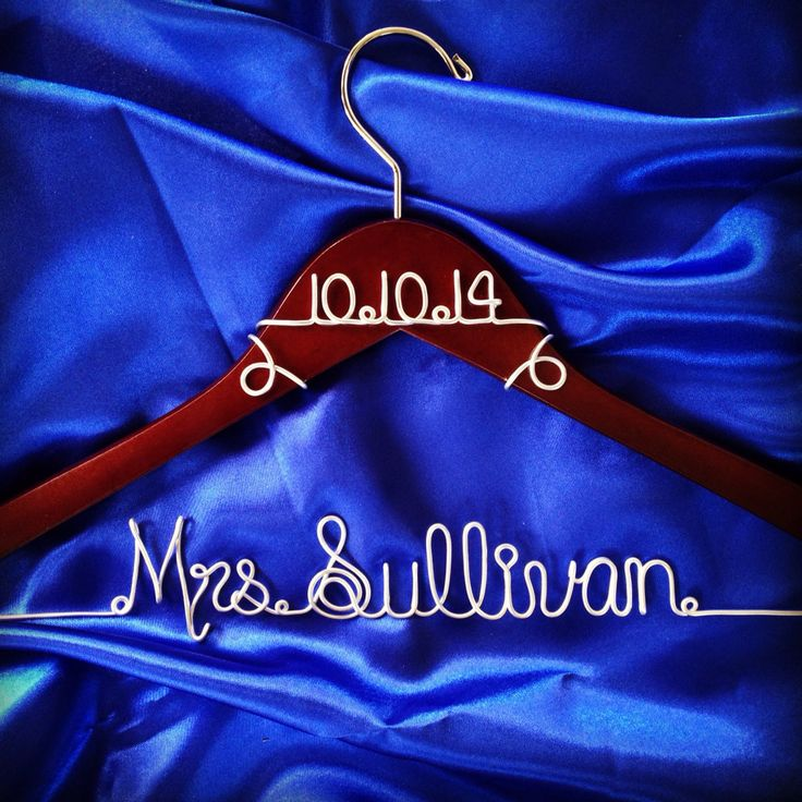 Personalized Custom Wire Wedding Hanger and date, Bridal Hanger with Date, Wedding dress hanger, Brides Hanger, Name Hanger by GoodLookingHangers on Etsy