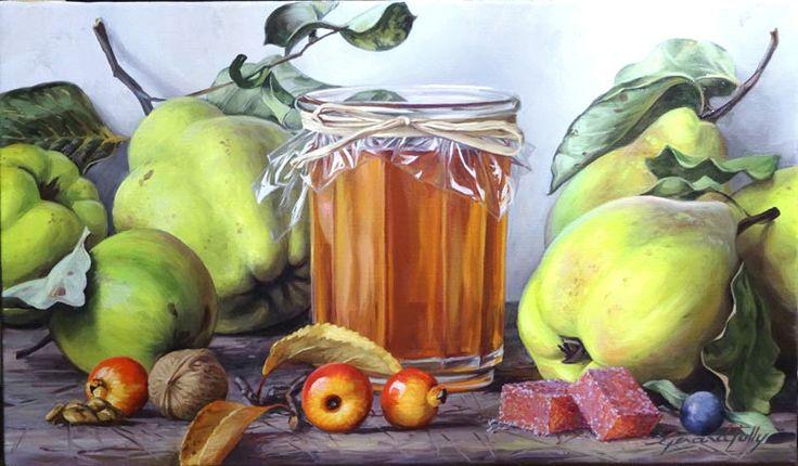 nature morte de fruits peinture à l'huile sur toile   Nature morte, Huile sur toile, Fruits et ...