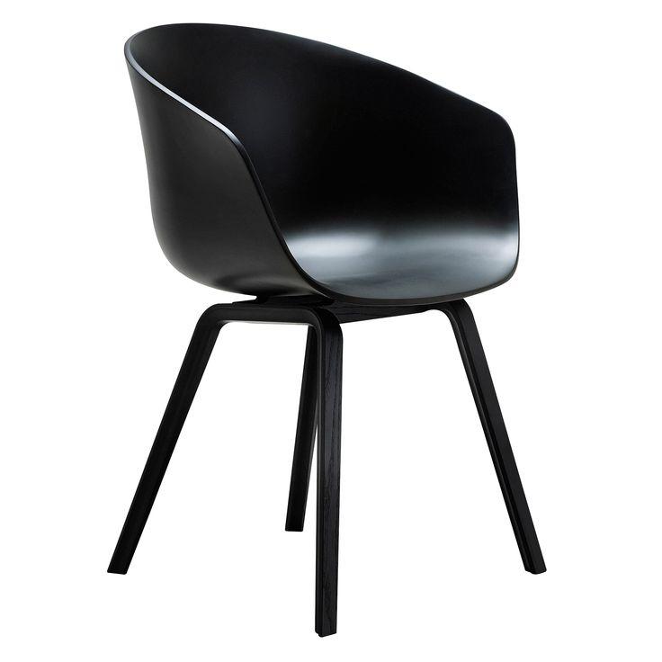 Hay About a Chair AAC22 stoel met zwart onderstel | FLINDERS verzendt gratis