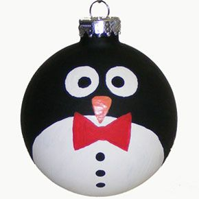 Craft Supplies: Sunshine Discount Crafts: PROJECTS » CHRISTMAS ORNAMENTS » PAINTED PENGUIN