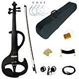 Kinglos 4/4 Colored Solid Wood Intermediate-A Electric / Silent Violin Kit with Ebony Fittings Full Size (DSZA1311)