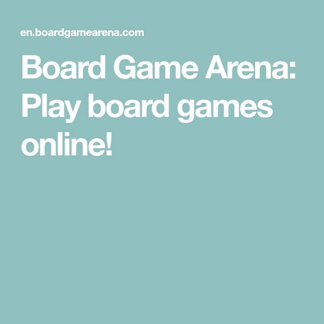 Board Game Arena: Play board games online!